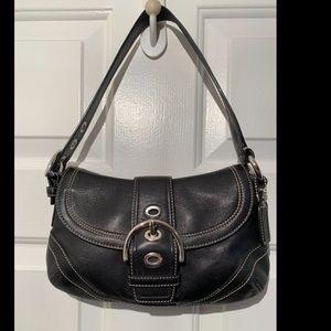Coach Black Leather Hobo Bag - H0779-F-10909 EUC
